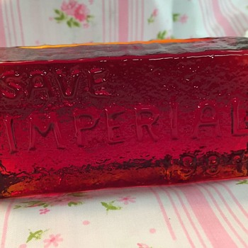 Save Imperial 1984, Glass Paperweight
