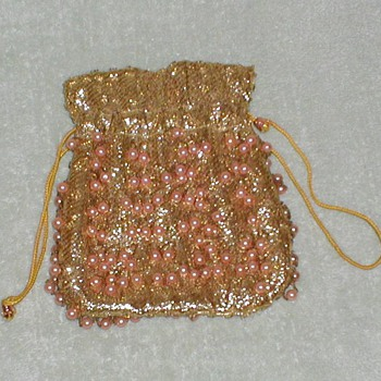 Ladies draw-string clutch purse