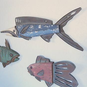 Vintage Fish Sculpture, Wall Hangings, Info Request - Folk Art