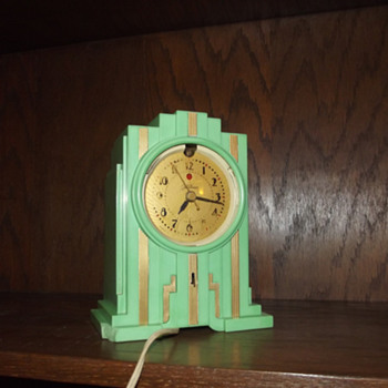 1929 Jade Green Telechon ElectroAlarm, Model 700 - Art Deco