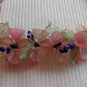 Vintage Murano floral glass bead choker/necklace