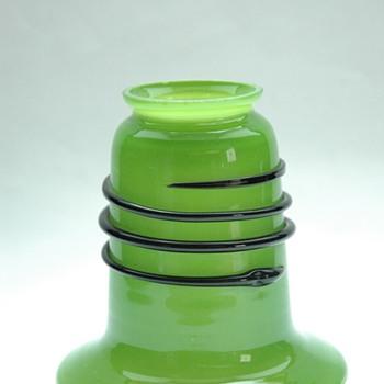 loetz green tango lampshade by michael powolny.