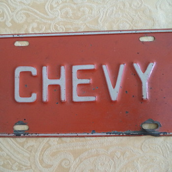 Chevy Old Plate