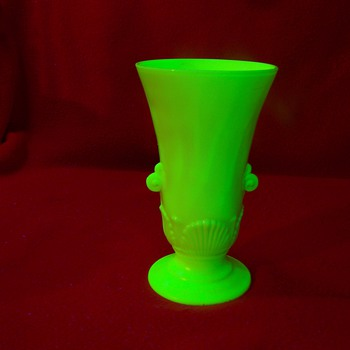 Unknown Custard Glass Vase - Art Deco