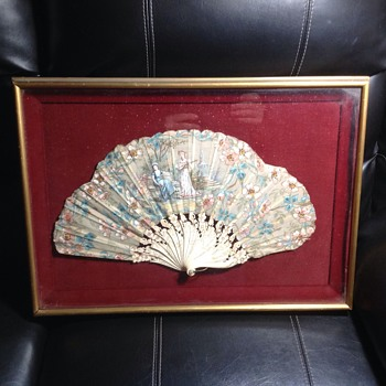 antique woman's hand  fan