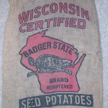 More Vintage Burlap - Advertising