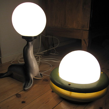 Glass Ball table/night lamps