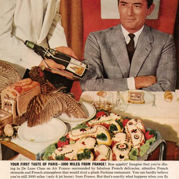 1960 - Gregory Peck for Air France - Advertisement - Advertising