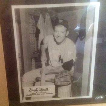 Rawlings Sporting Goods Promotional Photo of Mickey Mantle