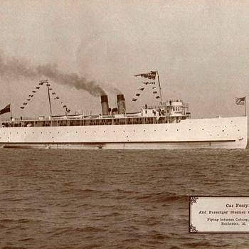 "1917 - Steamer ""Ontario No. 1"" Photograph"