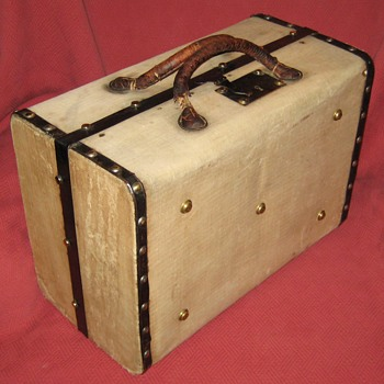Antique Canvas Covered Suitcase - Bags