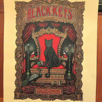 Black Keys screenprint by Marq Spusta
