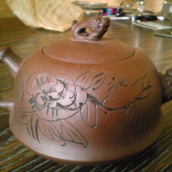 zisha yixing single serve teapot purple clay - Asian