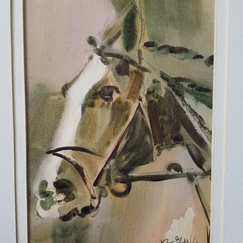 Watercolor painting of a Horse.... - Visual Art
