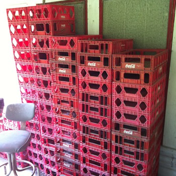 Coca Cola plastic crates