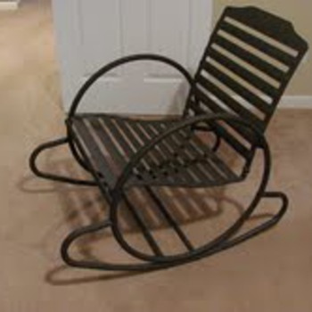 Retro Metal Outdoor Rocking Chair - Furniture