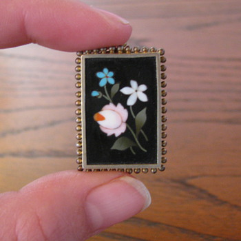 Pietra Dura Broaches