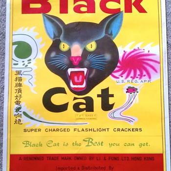 Original Black Cat Firecracker Poster - Advertising