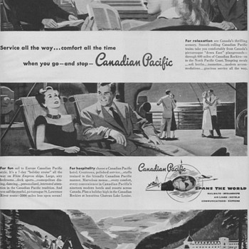 1950 Canadian Pacific Railways Advertisements - Advertising