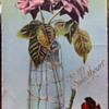 Bohemian Art Glass Postcard
