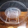 Gillinder & Sons Frosted Lion Platter