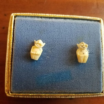 Small Ivory Earrings (from Alaska? Greenland?)