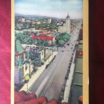 1942 Hollywood Boulevard Postcard