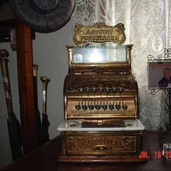 National Cash Register... Model 130...With Top Sign...From The 1880's - Coin Operated