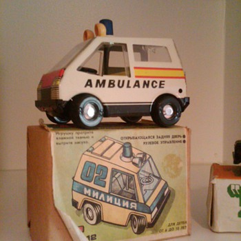 Tin Ambulance....Russian? - Toys