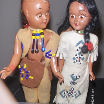 1950s native american dolls - Native American
