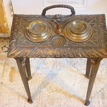 antique ashtray stand - Tobacciana
