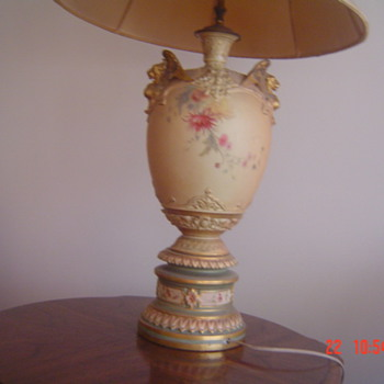 Antique Royal Worcester Lamp - China and Dinnerware