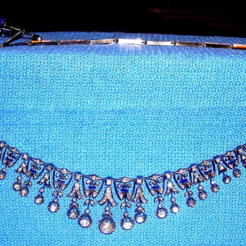 An incredible diamond and enamel necklace - Georgian era - Fine Jewelry