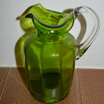 Another green glass jug