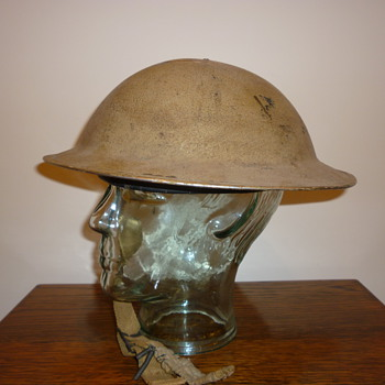 British WWII 8th Army steel helmet