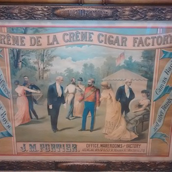1870's J. M. Fortier Montreal Cigar Advertising Sign