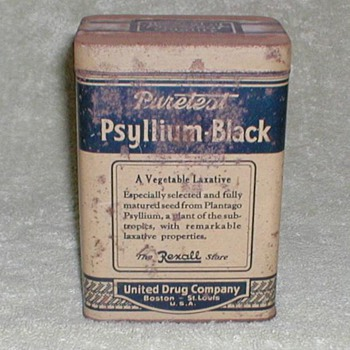 Puretest Psyllium-Black product tin - Advertising