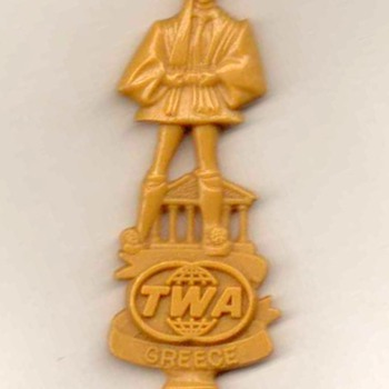 TWA Airlines (Greece) - Cocktail Stirrer - Advertising