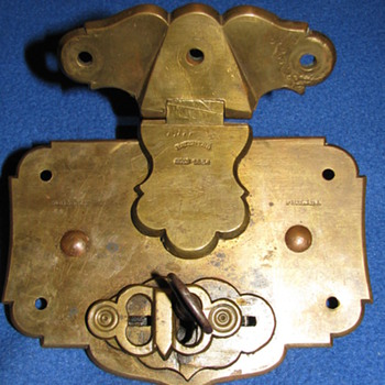 Antique Trunk Lock 1854 - Tools and Hardware