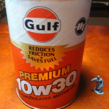 Gulf 1 Litre Oil Can - Petroliana