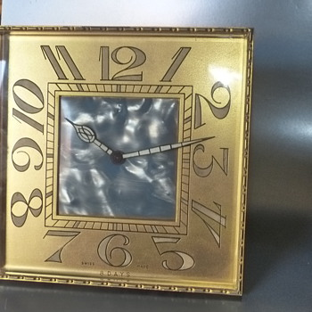 Large Swiss Easel Back Clock - Clocks