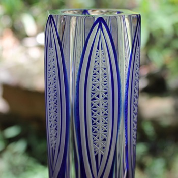 Edo Kiriko vase - Art Glass