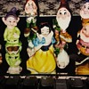 Set of Snow White and the Seven Dwarfs figures (Enesco, 1960s) MINT CONDITION