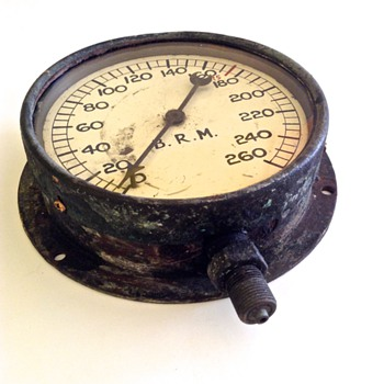 Old pressure gauge (steam engine perhaps???) - Railroadiana