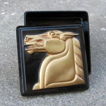 Hickok plastic men's trinket box