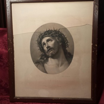 Antique Printing of Ecce Homo by Reni - Visual Art