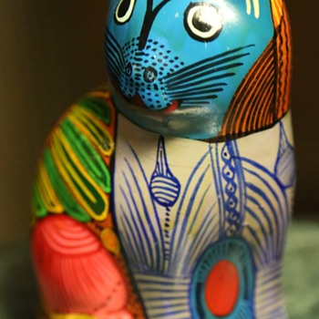 Cute Kitty!  Mexican Pottery