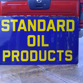 Standard Oil Products porcelain sign - Petroliana