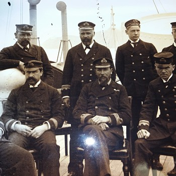 Glass negatives of Royal Navy late 1800s