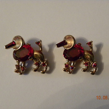 Trifari Poodles - Costume Jewelry